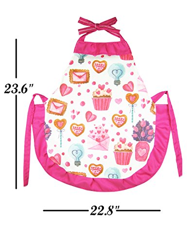 Cupcake Chef Set for Kids Cooking, Play Set with Apron for Girls,Chef Hat, and Other Accessories for Toddler,Career Role Play, Great Gift for Children Pretend Play, Size Medium 5-12 11 Pcs (Chef set) by NLooking (Image #1)