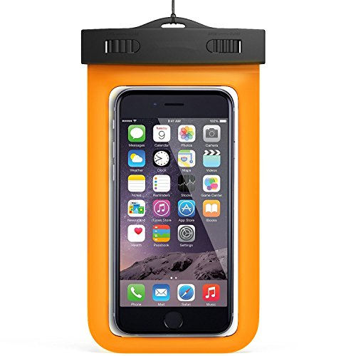 Price comparison product image Waterproof Phone Bag, NewYouDirect phone dry bag for iPhone 6/6S/6Plus/Samsung 6'' Mint Green (orange) Add-on Item Only