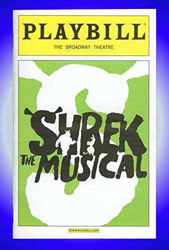 Shrek The Musical, Broadway Playbill + Brian d'Arcy James, Sutton Foster, Christopher Sieber, John Tartaglia, Daniel Breaker