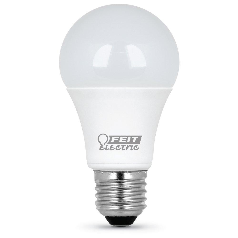 1100 Lumens 120 Vac Clear 2700 K FEIT ELECTRIC A1100//827//10KLED Non-Dimmable 4 Piece CRI =80 Led Bulb 75 W