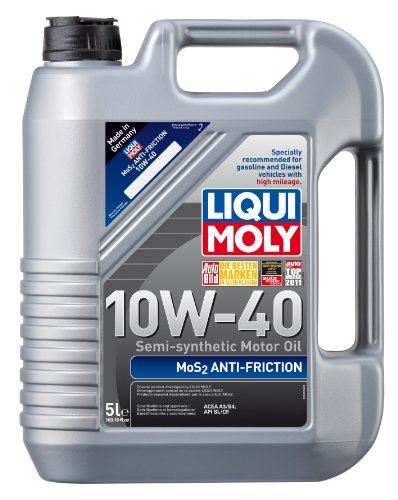 Liqui Moly 2043 MoS2 Anti-Friction 10W-40 Motor Oil - 5 Liter (Synthetic Gas Engine Motor Oil)