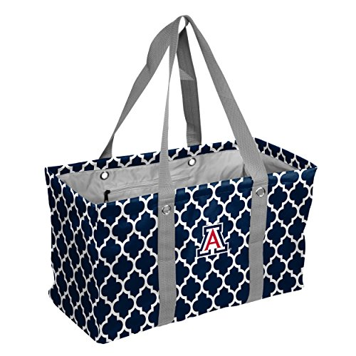 Logo Brands Collegiate Large Collapsible Picnic Tote Arizona Wildcats, Navy, One Size