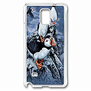 Find 10 Puffins Custom Back Phone Case for Samsung Galaxy Note 4 PC Material Transparent -1210437 WANGJING JINDA