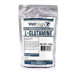 WellBodyNaturals Pure L-Glutamine Powder (100 grams)