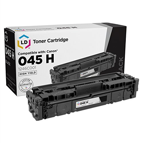 LD Compatible Canon 045H / 1246C001 High Yield Black Toner Cartridge for use in Color ImageCLASS MF634Cdw, MF632Cdw and LBP612cdw (2,800 Page (Compatible Black High Capacity Toner)