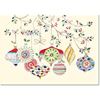 Watercolor Ornaments Small Boxed Holiday Cards Hardcover Deals