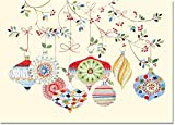 Watercolor Ornaments Small Boxed Holiday Cards (Christmas Cards, Greeting Cards) , Box of 20