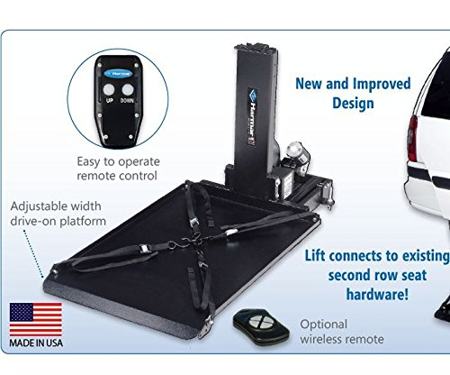 Harmar Mobility Upgraded AL690 Scooter & Wheelchair Hybrid Platform Lift with Mounting Kit & Wiring Harness and II/III Hitch Adapter