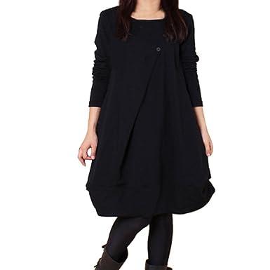 Amazon.com: WANQUIY Oversized Dresses for Women Womens Long Sleeve ...