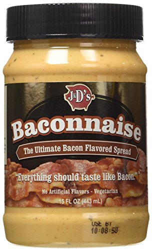 J&D's Baconnaise Bacon Flavored Spread, Regular, 15-Ounce Jars (Pack of 3)