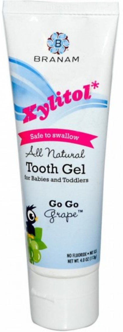 Branam Oral Health Xylitol Tooth Gel for Babies & Toddlers, Go Go Grape, 4 oz (Pack of 8)