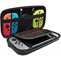 PECHAM Travel Carrying Case for Nintendo Switch with 10 Built-in Game Card Holders