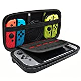 PECHAM Travel Carrying Case for Nintendo Switch Accessories - Joy-con & Game Console Kit Protective Carrying Storage Carrying Bag - 10 Built-in Game Card Holders