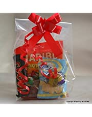 "Wrappings and Bows Large Gusseted Clear Cellophane Gift Bags 12"" x 6"" x 3"" (30.5cm x 15cm x 7cm) 25 bags"