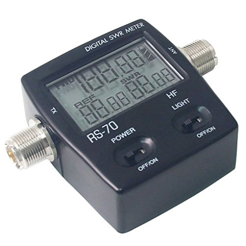 Youmei RS-70 Digital SWR/Watt Meter HF 1.6-60MHz 200W for Two-way Radio