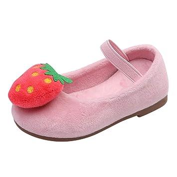 acebc364271 Bébé Fille Ballerines Mocassins Doux Fraise Princesse Chaussures Bateau