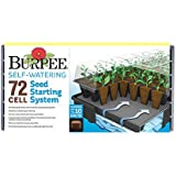 Burpee 72 Cell Self-Watering Seed Starting Kit, 72 Cell, Black