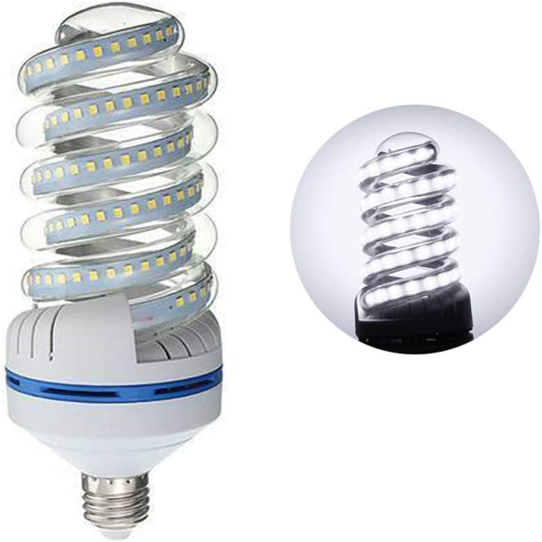 P12cheng Bombilla E27 en Espiral, 3/5/7/9/16/20/24/30W 2835 SMD de bajo Consumo LED Tipo Espiral E27, plástico, Blanco frío, 5W
