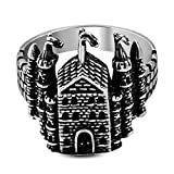 Stainless Steel 2 Color Christ Church/ Royal Palace Fancy Ring