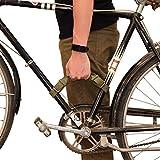 Hide & Drink, Rustic Leather Bicycle Frame Handle (Bike Handle) Handmade Includes 101 Year Warranty :: Peat Moss