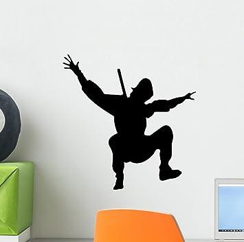 Amazon.com: Wallmonkeys WM237810 Action Ninja Silhouette ...