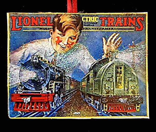 Lionel Train, Handcrafted Wood, Christmas Ornament, 1929 Catalog, Train Set, Boy's Ornament, Christmas Gift, Toy Train, Engine, Vintage Toys