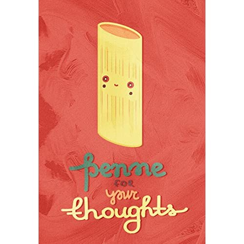 11 x 17 Penne For Your Thoughts Funny Kitchen Pun Wall Decor Prints Poster free shipping