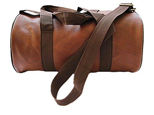 muccasacra Faux Leather Weekender Duffel Gym Bag with 3 Compartments (Scrubbed Dark Brown) Price & Reviews