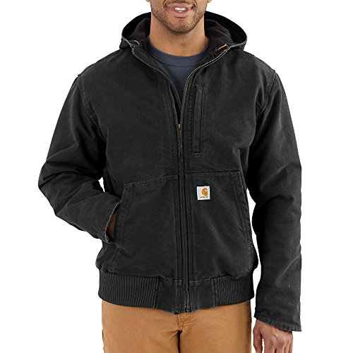 Carhartt Men's Sandstone Full Swing Active Jacket, Black, X-Large -