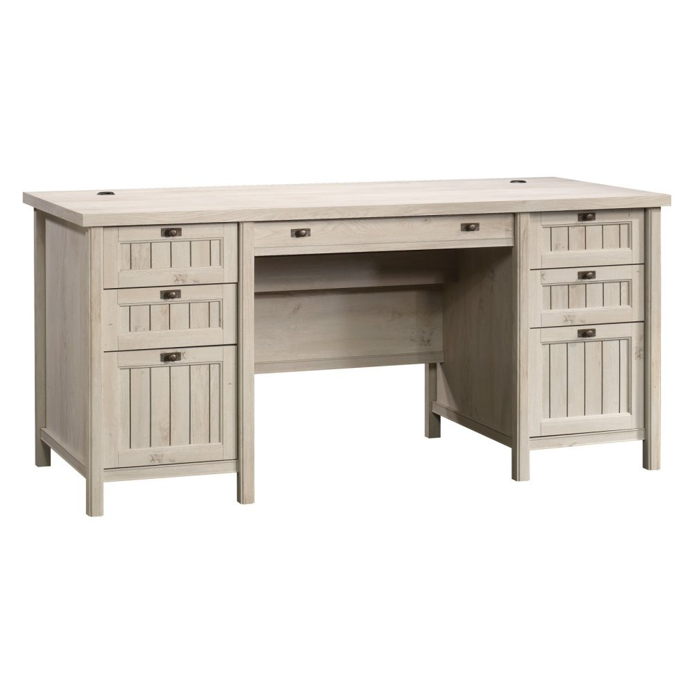 Amazon.com: Executive Desk in Chalked Chestnut Finish: Kitchen & Dining