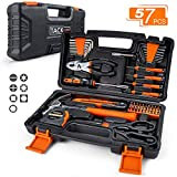 TACKLIFE 57-Piece Basic Home Tool Kit - Household Hand Tool Kit for Home, Office, Dorm with Sturdy Tool Box Storage Case -HHK3A