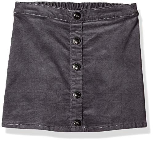 Skirt Woven Waist Elastic (Crazy 8 Girls' Big Woven Mini Skirt, Grey Corduroy Button, 5T)