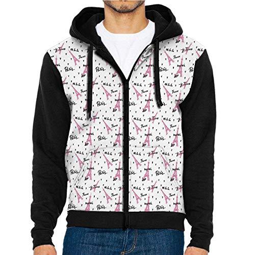3D Printed Hoodie Sweatshirts,Quote Je Taime Romance,Hoodie Casual Pocket Sweatshirt