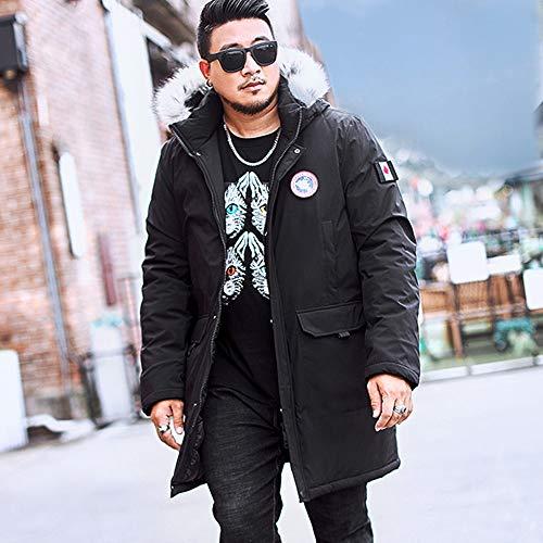 Capuche Coat Manteaux Jacket Hiver Veste À Manteau Hommes Col Grande Manche Homme Taille Épaississant Imprimé Fantaisiez Polaire Noir3 Longue qwxXf64P