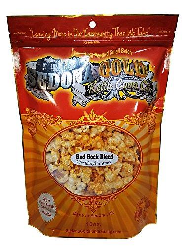 Sedona Gold, Red Rock Blend,Gourmet Popcorn (Cheddar & Caramel)
