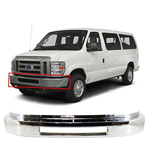 MBI AUTO - Chrome Steel, Front Bumper Face Bar for 2008-2016 Ford Econoline E150 E250 E350 Super Duty E450 Super Duty Van, FO1002410 - Econoline E-350 Van