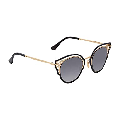 59f53bade83 Amazon.com  Jimmy Choo Women s Dhelia S Black Gold Brown Gradient Mirror  One Size  Clothing