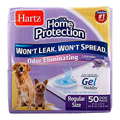 Hartz Home Protection Odor Eliminating Scented Dog Pads, Super Absorbent & Won't Leak, Lavender Scent, Pad Size…