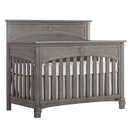 Double Dentil Molding - Evolur Santa Fe 5-in-1 Convertible Crib, Storm Grey