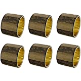 SKAVIJ Handmade Napkin Rings Set of 6 Brass Rustic for Weddings Dinner Parties or Every Day Use
