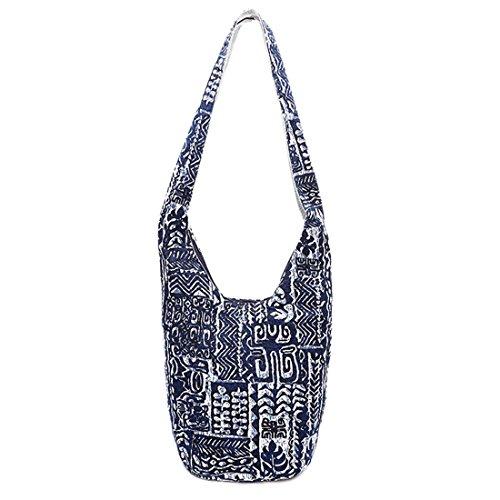 Bag Top Womens Zip Shoulder Sling Handbag Tote Handmade Purse Bags Crossbody Blue Yiblbox dctwHqYw