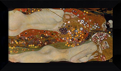 (Canvas Art Framed 'Water Serpents II, 1904-07' by Gustav Klimt)