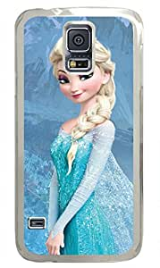 iCustomonline Frozen Hard Back Cover Snap on PC Transparent Case for Samsung Galaxy S5