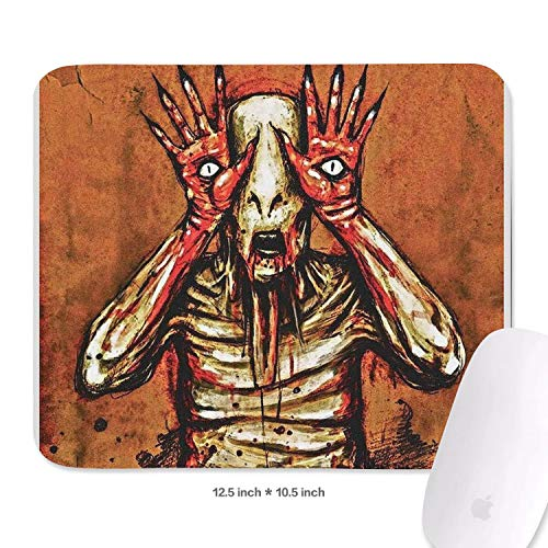 Gaming Mouse Pad Custom Pan's-Labyrinth-2006-Film-Poster- Fashion Anti Slip Rectangle Design Non-Slip Rubber Mouse Pad 10.5x12.5 Inch