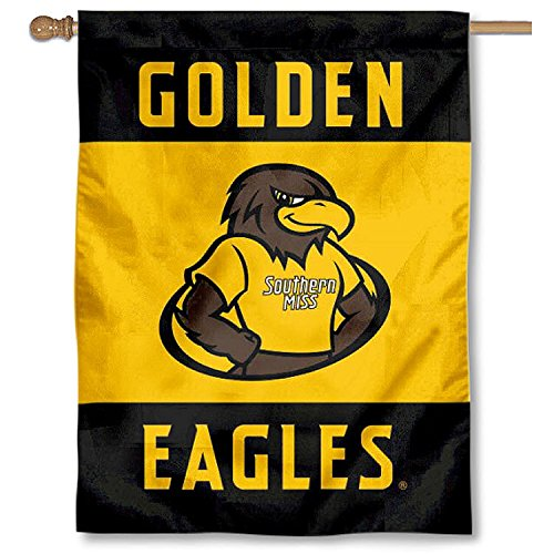 College Flags and Banners Co. Southern Miss Eagles Mascot Double Sided House Flag