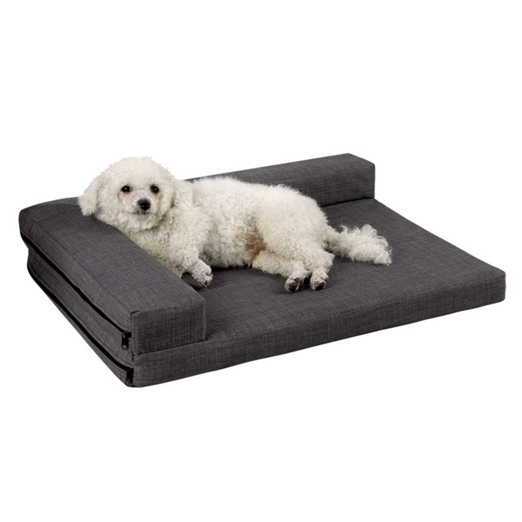 94×72cm SSB Pbeds Easy To Clean And Comfortable Dog Bed, Durable And Sturdy Washable Puppies, Suitable For Indoor Travel, Various Dogs cats pets, Grey (Size   94×72cm)
