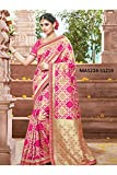 Aashima Fab Store Indian Sarees For Women Designer Wedding Partywear Pink Color In Pink Cotton Silk