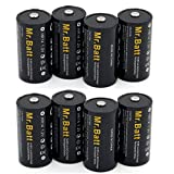 Mr.Batt C Rechargeable Batteries (8-Pack) NiMH 5000mAh Pre-charged + Battery Case