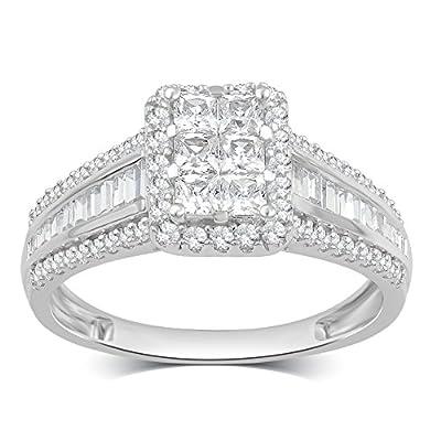 1.00 CTTW Diamond Engagement Ring in 10K White Gold