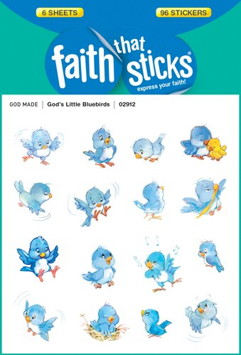 God's Little Bluebirds (Faith That Sticks Stickers)